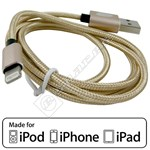 Compatible MFI Approved Lightning Cable – 1M Gold