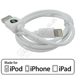 Compatible MFI Approved Lightning Cable – 1M White