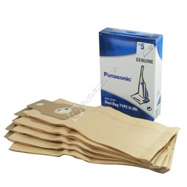 Panasonic U-20E Paper Dust Bag - Pack of 5 - ES168020