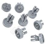 Dishwasher Lower Basket Wheel Kit - Pack of 8