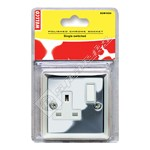 Wellco Mirror Chrome Single Switched Socket