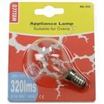 40W SES E14 Oven Lamp & Cover Set