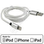 Compatible MFI Approved Lightning Cable – 1M Silver