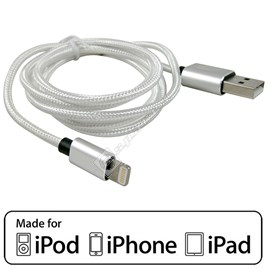 Compatible MFI Approved Lightning Cable – 1M Silver - ES1766122