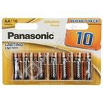 Panasonic AA Alkaline Power Batteries - Pack of 10