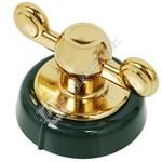 Hob Control Knob - Green & Gold