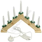 The Christmas Workshop Warm White Wooden Pine Candle Bridge