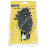 Rolson 10 Piece Allen/Hex Key Set