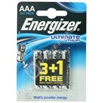 Energizer Ultimate Lithium AAA Batteries - Pack of 3+1 FREE