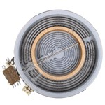 Large Ceramic Hob Dual Hotplate Element - 2200W/750W