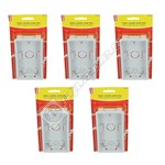 Wellco White Twin 35mm Cavity Wall Box - Pack of 5