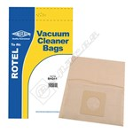 Electruepart BAG41 Rotel U65 Vacuum Dust Bags - Pack of 5