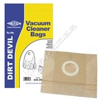 Electruepart BAG256 Dirt Devil Vacuum Dust Bags (Type 22) - Pack of 5