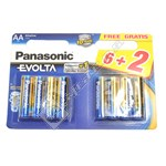 AA Batteries - 6 Pack + 2 Free
