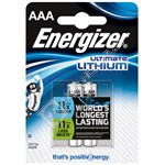 Energizer 635225 Ultimate Lithium AAA batteries - Pack of 2