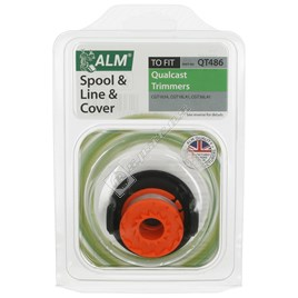 QT486 Grass Trimmer Spool & Line With Cover - ES1777598