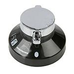 Black & Silver Main Oven Control Knob
