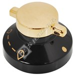 Black and Gold Gas Hob Control Knob