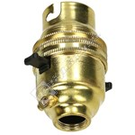 Wellco Switched Brass Lampholder - Bayonet Cap