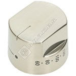 Oven Thermostat Control Knob - Stainless Steel