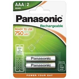 Panasonic AAA Rechargeable NI-MH Batteries 750mAh - ES1637188