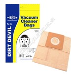 Electruepart BAG251 Dirt Devil D23 Vacuum Dust Bags - Pack of 5