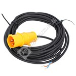 Vacuum Cleaner Mains Cable with Industrial Plug