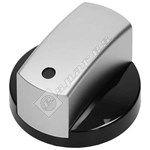 Hob Control Knob - Black & Chrome
