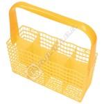 Yellow Slimline Dishwasher Cutlery Basket