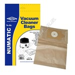 Electruepart BAG50 Numatic NVM-1CH Vacuum Dust Bags - Pack of 5