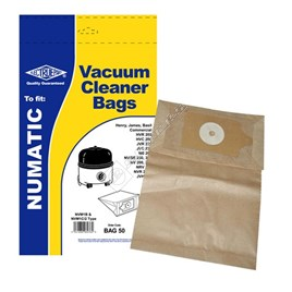 Electruepart BAG50 Numatic NVM-1CH Vacuum Dust Bags - Pack of 5 - ES1395316