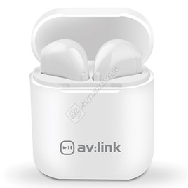 White Ear Shots True Wireless Bluetooth Earphones with Power Case - ES1816118