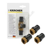 Karcher Steam Cleaner Brass Round Brush Set - Pack of 3