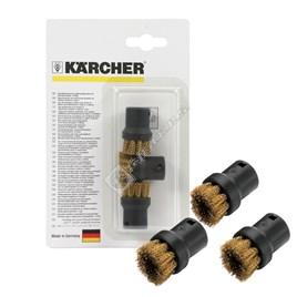 Karcher Steam Cleaner Brass Round Brush Set - Pack of 3 - ES664503
