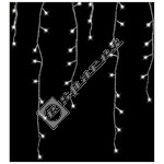 300 LED White Remote Control Snowing Icicle Lights