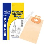 Dirt Devil Compatible Vacuum Dust Bags (Type 05) - Pack of 5