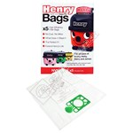 Numatic (Henry) NVM-1CH 3 Layer HepaFlo Filter Vacuum Bags - Pack of 5