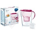 Brita 1024047 Marella M+ Basic Berry Water Filter Jug 2.4L
