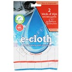 E-Cloth Antibacterial Wash & Wipe Kitchen Cloths (Pack of 2)