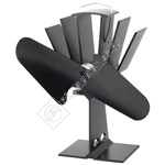 Wellco 2-Blade Heat Powered Stove Fan - Black