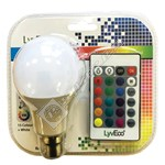 LyvEco 9W B22 GLS A60 Colour Changing LED Bulb With Remote